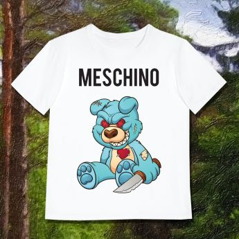 MESCHINO T-SHIRT BLUE - GUYS