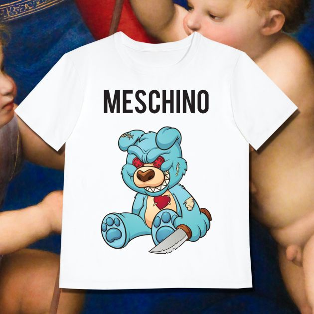 MESCHINO T-SHIRT BLUE - KIDS