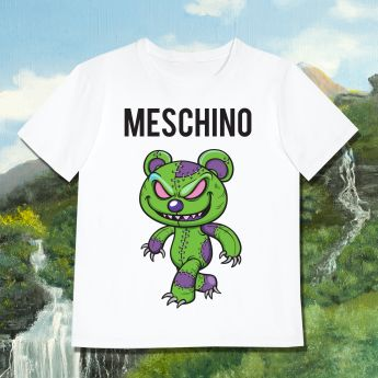 MESCHINO T-SHIRT GREEN - KIDS